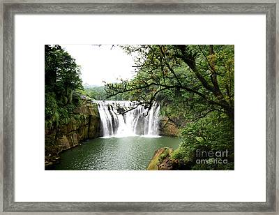 Shifen Waterfall  Framed Print by Hanza Turgul