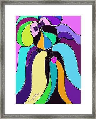 Shih Tzu Colors Framed Print by Terry Chacon