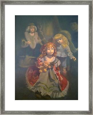 Shine With The Light Of Jesus Framed Print by Weiyu Xia