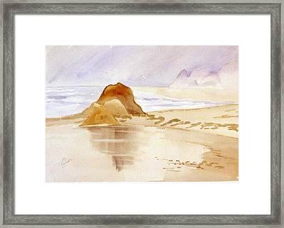 Shining Sands Framed Print by Leo Chiantelli