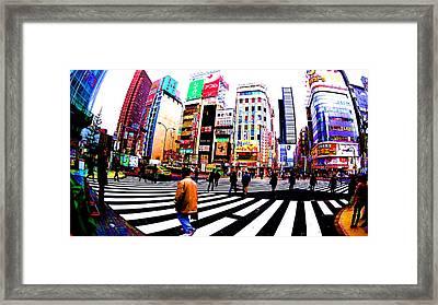 Shinjuku Tokyo Framed Print by Jera Sky