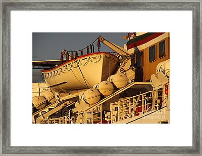 Ship Atlantis Framed Print by Martina Berg