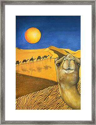 Ship Of The Desert Framed Print by Robert Lacy