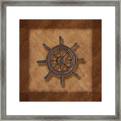 Ship's Wheel Framed Print by Tom Mc Nemar