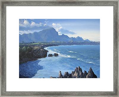 Shipwreck Beach Framed Print by Ian Henderson