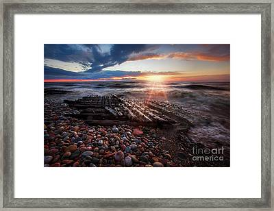 Shipwreck Sunrise Framed Print by Todd Bielby
