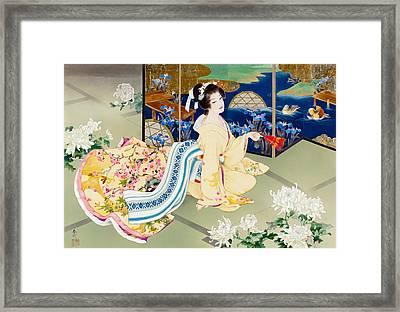 Shiragiku Framed Print by Haruyo Morita