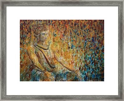 Shiva Meditation 2 Framed Print by Nik Helbig