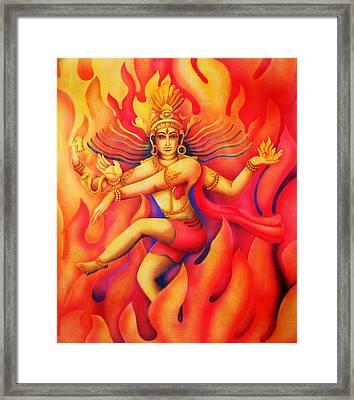 Shiva Nataraja Framed Print by Vishwajyoti Mohrhoff