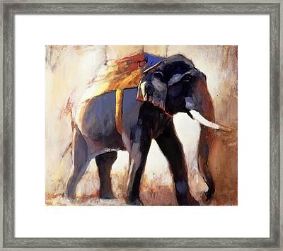Shivaji  Khana Framed Print by Mark Adlington