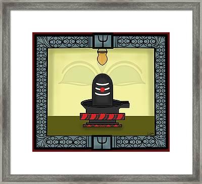 Shivlinga Framed Print by Pratyasha Nithin