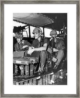 Shock Absorber Troop Carrier Framed Print by Underwood Archives