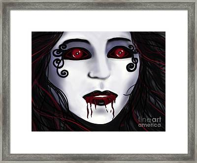 Shock At First Bite Framed Print by Roxy Riou