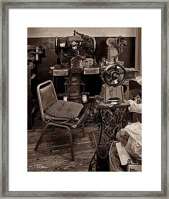 Shoe Hospital - Sepia Framed Print by Christopher Holmes