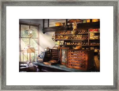 Shoe Maker - Shoes For Sale Framed Print by Mike Savad