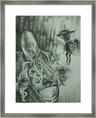 Shoe Makers Framed Print by Beka Burns