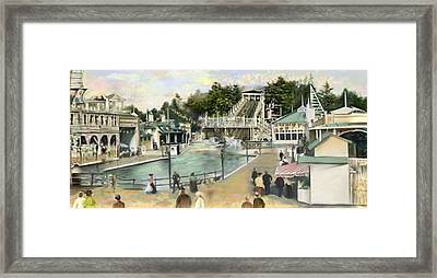 Shoot The Chutes.1907 White City   Framed Print by Mark Tonelli