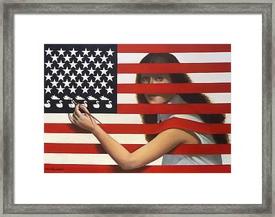 Shooting Gallery Framed Print by Jane Whiting Chrzanoska