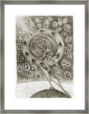 Shooting Stars Framed Print by Juel Grant