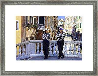 Shooting The Breeze Framed Print by Janet Fikar