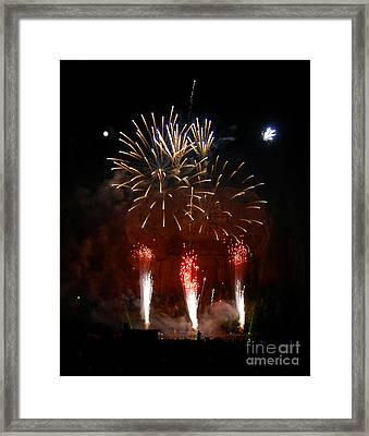 Shooting The Fireworks Framed Print by David Lee Thompson