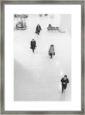 Shopping Zone Walkers Framed Print by John Williams