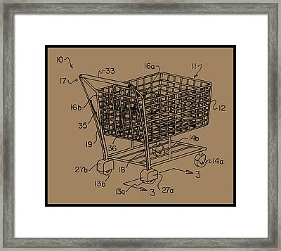 Shopping Cart Framed Print featuring the painting Shopping Cart by Unknown