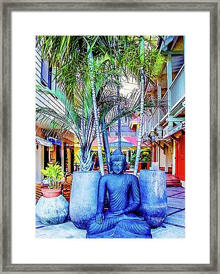 Shopping In St. Barts Framed Print by Julie Palencia