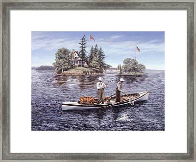 Shore Lunch On The Line Framed Print by Richard De Wolfe