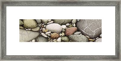 Shore Stones Framed Print by JQ Licensing