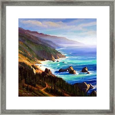 Shore Trail Framed Print by Frank Wilson