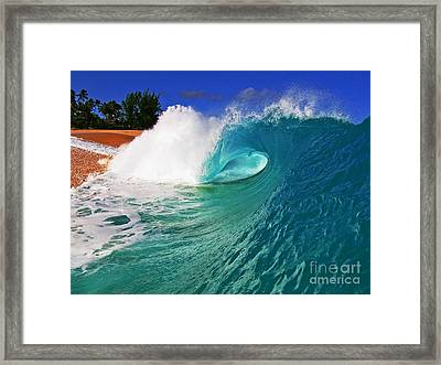 Shorebreaker Framed Print by Paul Topp