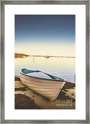 Shored Row Boat In Tasmania Framed Print by Jorgo Photography - Wall Art Gallery