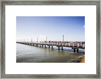 Shorncliffe Pier Opening Ceremony Framed Print by Jorgo Photography - Wall Art Gallery