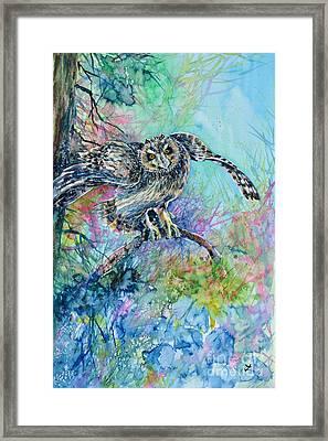 Short-eared Owl Framed Print by Zaira Dzhaubaeva