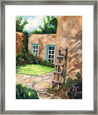 Short Ladder Framed Print by Timithy L Gordon