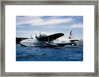 Short Sandringham Flying Boat Vh-brc Framed Print by Wernher Krutein