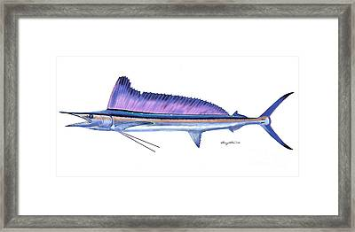 Shortbill Spearfish  Framed Print by Carey Chen