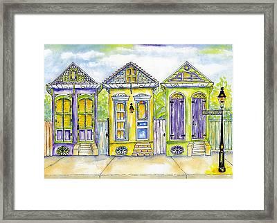 Shotgun Houses Framed Print by Catherine Wilson