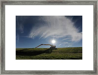 Shovel Ready Framed Print by Ross Odom