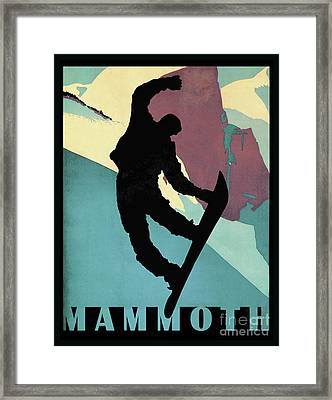 Showboarding Dude At Mammoth, Winter Sports Framed Print by Tina Lavoie