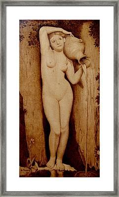 Shower Maiden Framed Print by Jo Schwartz