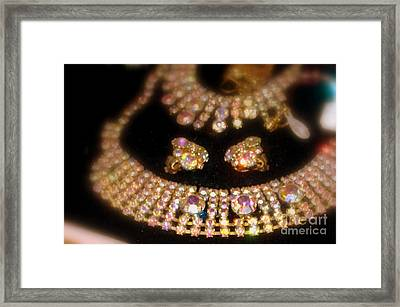 Showered In Diamonds Framed Print by Jacqueline Manos
