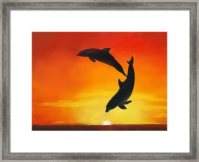 Showing Off Framed Print by Darlene Green