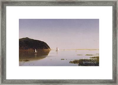 Shrewsbury River - New Jersey Framed Print by John Frederick Kensett