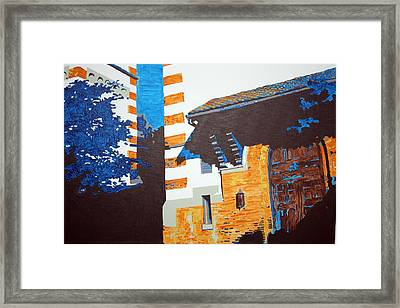 Shrine Arched Door Detail Framed Print by Sheri Parris