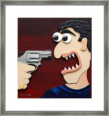 Shut Up Framed Print by Sal Marino