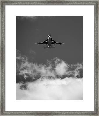 Shuttle Enterprise In Black And White Framed Print by Anthony S Torres