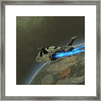 Shuttlestar Transport Framed Print by Corey Ford