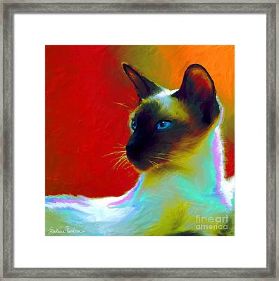 Siamese Cat 10 Painting Framed Print by Svetlana Novikova
